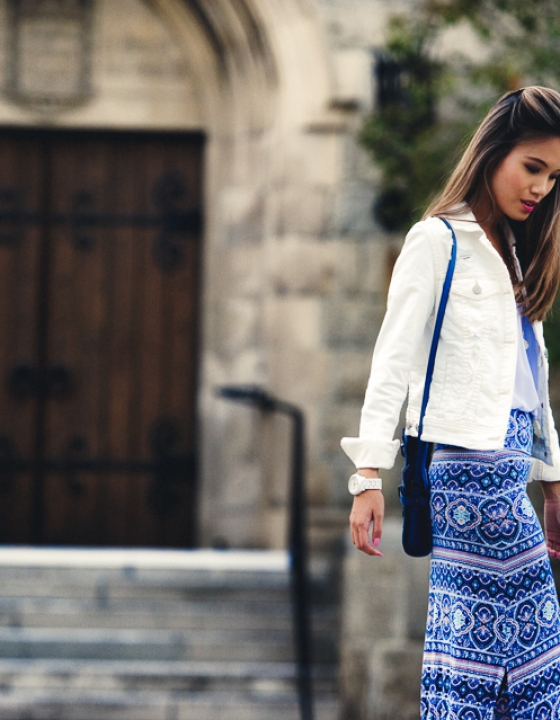 SUMMER TO FALL STAPLE: THE WHITE DENIM JACKET