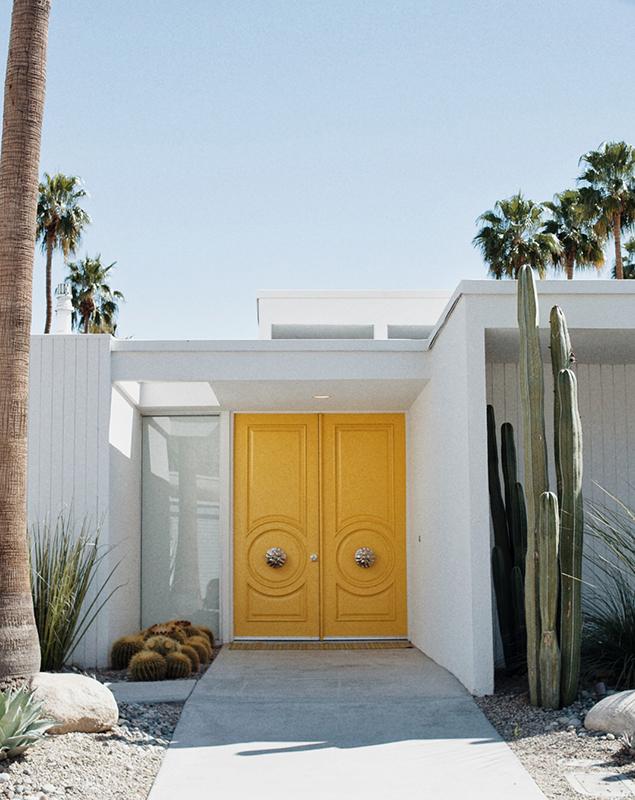 yellow door in palm springs