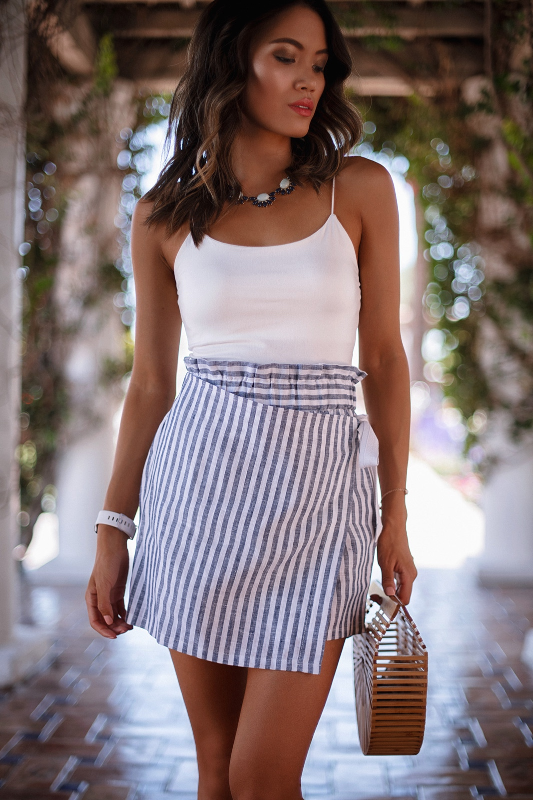skort with stripes